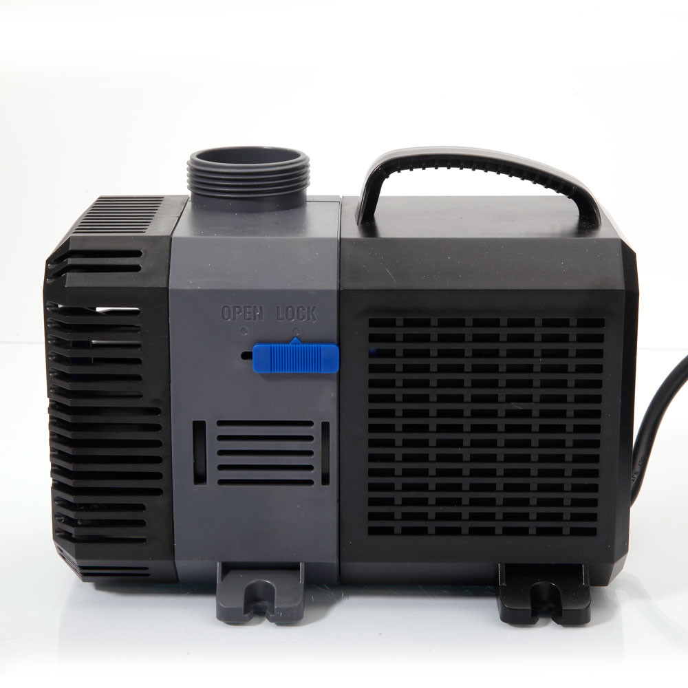 3170gph submersible inline water filter pump aquar for Water feature pump filter