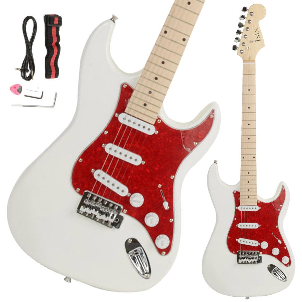 new st3 stylish white basswood 6 strings beginner 22 frets electric guitar ebay. Black Bedroom Furniture Sets. Home Design Ideas