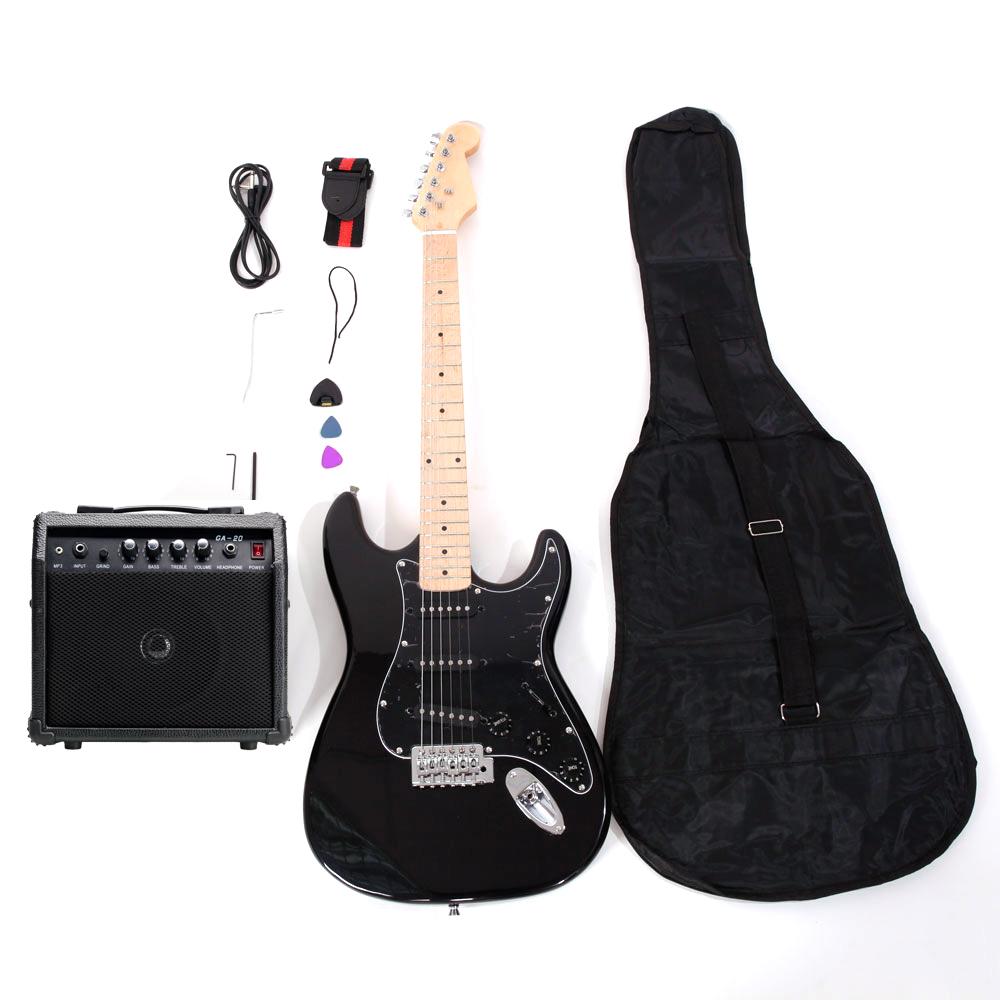 8 colors st burning fire practice beginner electric guitar set w bag amp ebay. Black Bedroom Furniture Sets. Home Design Ideas