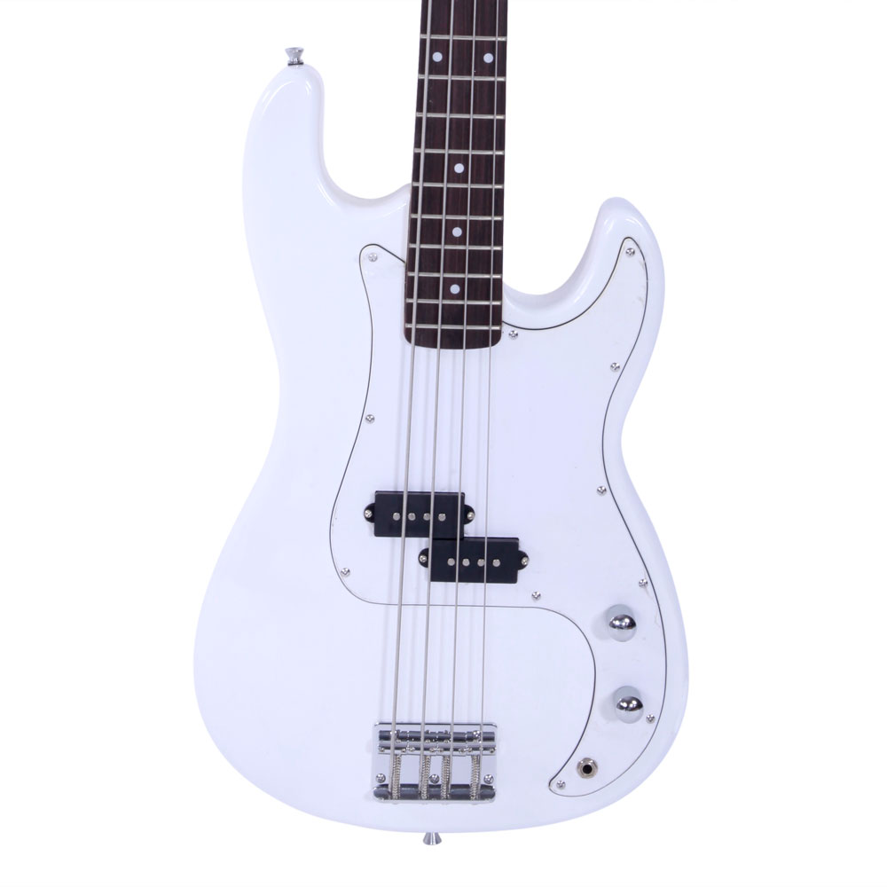 fashion white full size 4 string electric bass guitar burning fire style ebay. Black Bedroom Furniture Sets. Home Design Ideas