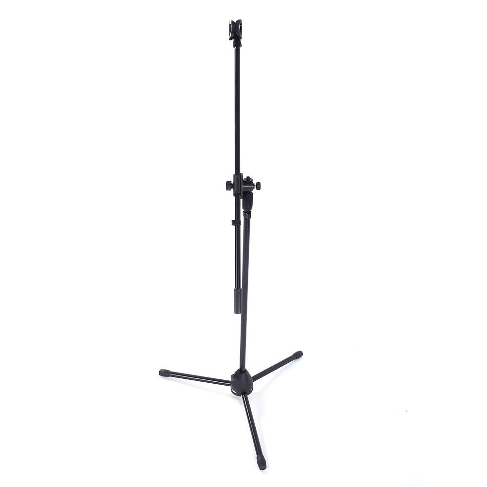 New Metal Black Adjustable Folding Tripod Boom Microphone