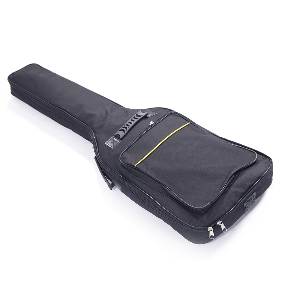 new nylon padded electric guitar soft case gig bag backpack black ebay. Black Bedroom Furniture Sets. Home Design Ideas