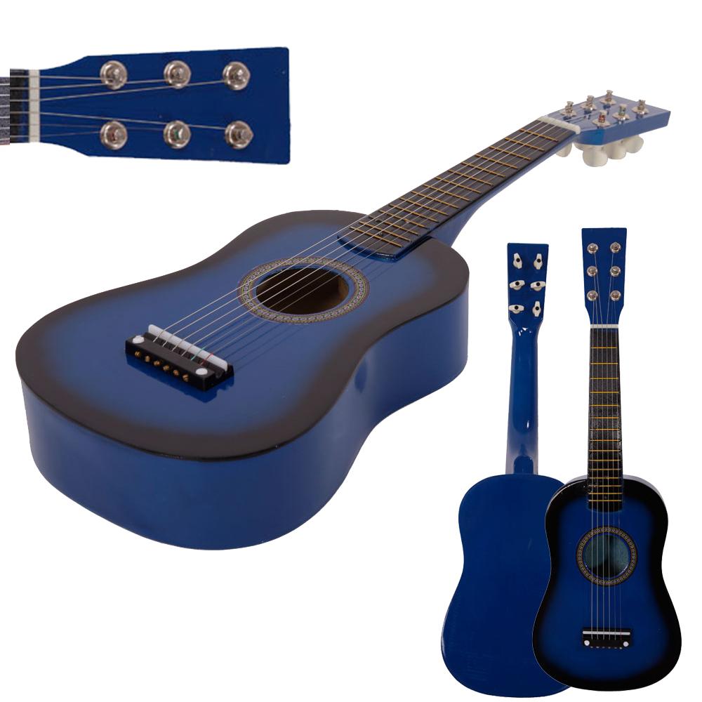 Mini Practice Guitar : new 23 plywood acoustic mini guitar 6 string for kids beginners practice blue ebay ~ Vivirlamusica.com Haus und Dekorationen