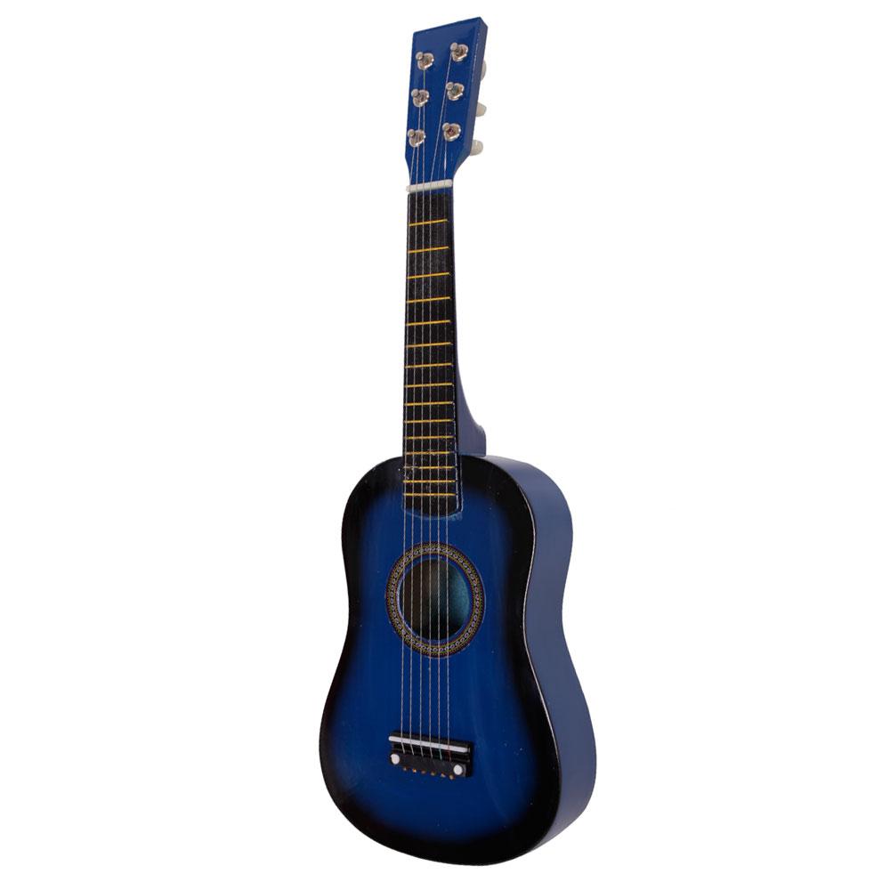 Mini Practice Guitar : new 23 plywood acoustic mini guitar 6 string for kids beginners practice blue ~ Vivirlamusica.com Haus und Dekorationen
